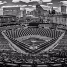 Camden Yards Black White No Attendance Game